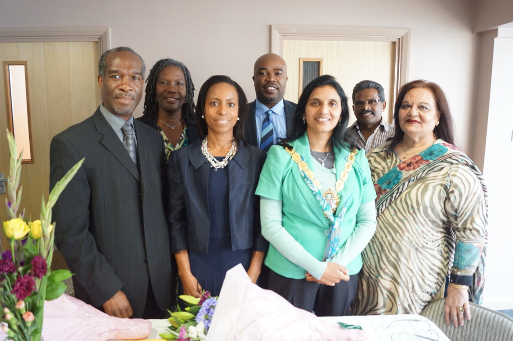 The Worship, the Mayor of Croydon, Manju Shahul-Hameed; Deputy Mayor, Patricia Hay-Justice; Board of Croydon BME Forum